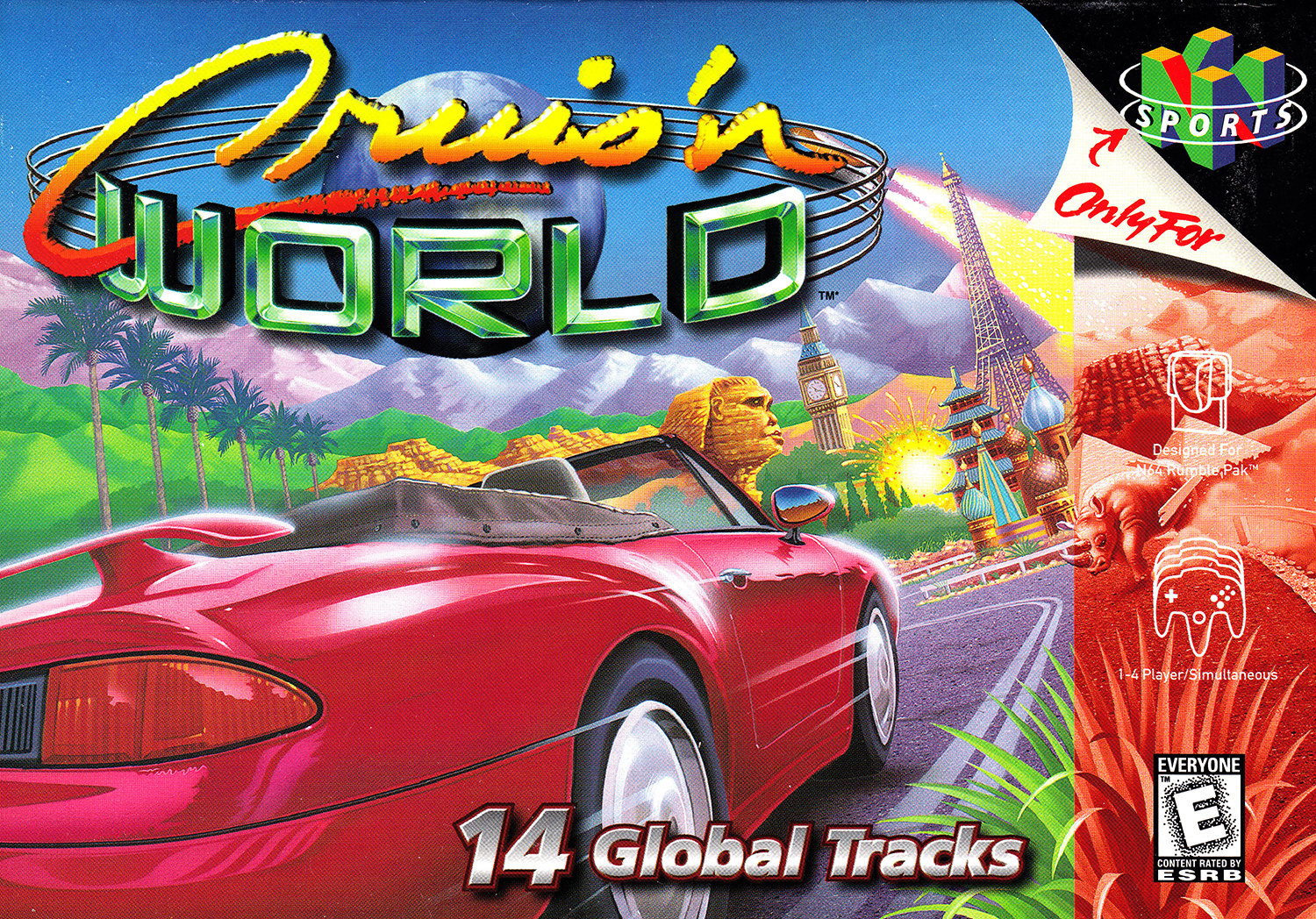 Cruis'n World For N64 Nintendo Racing