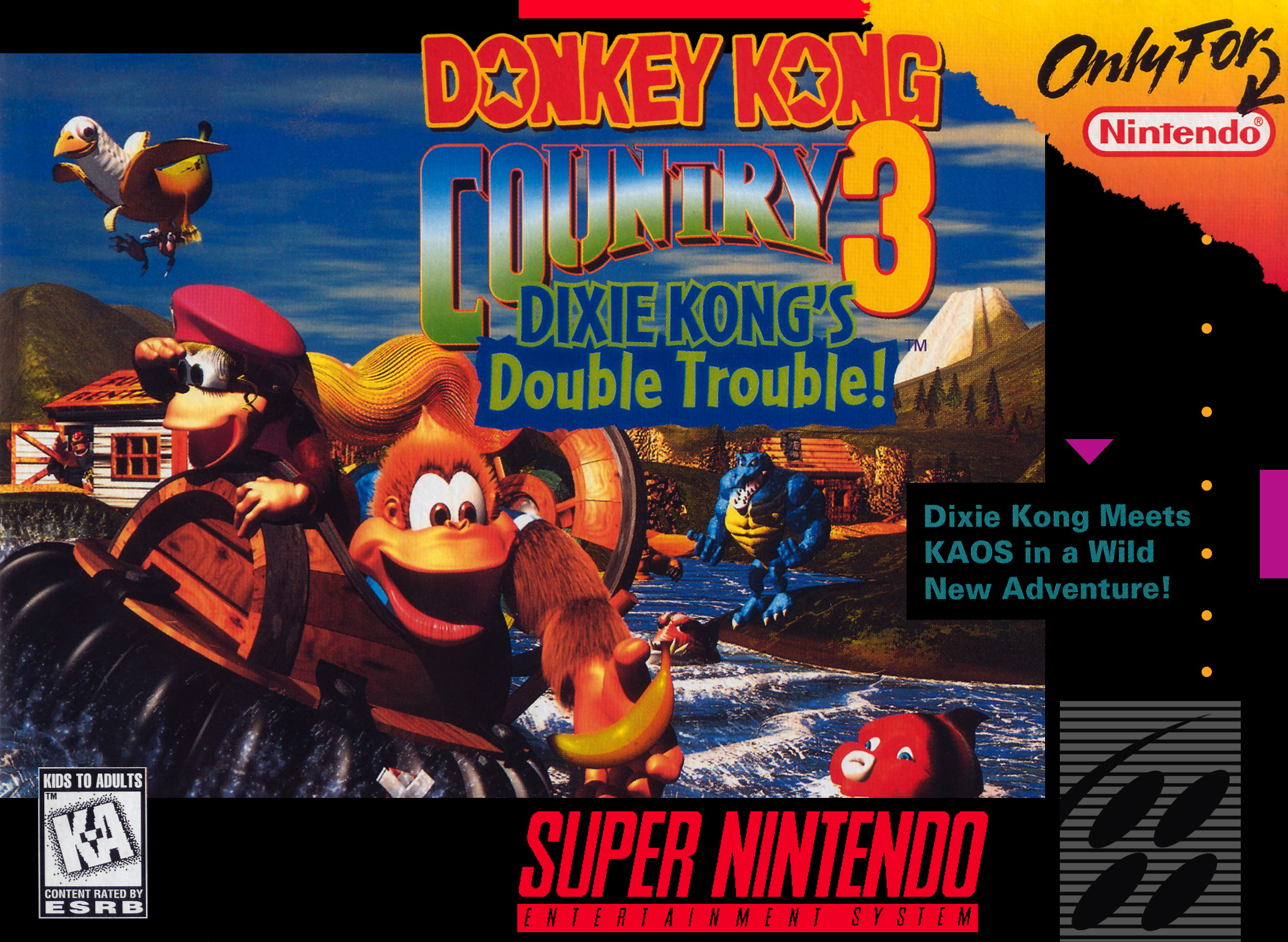 Donkey Kong Country 3: Dixie Kong's Double Trouble Nintendo Super NES For Super