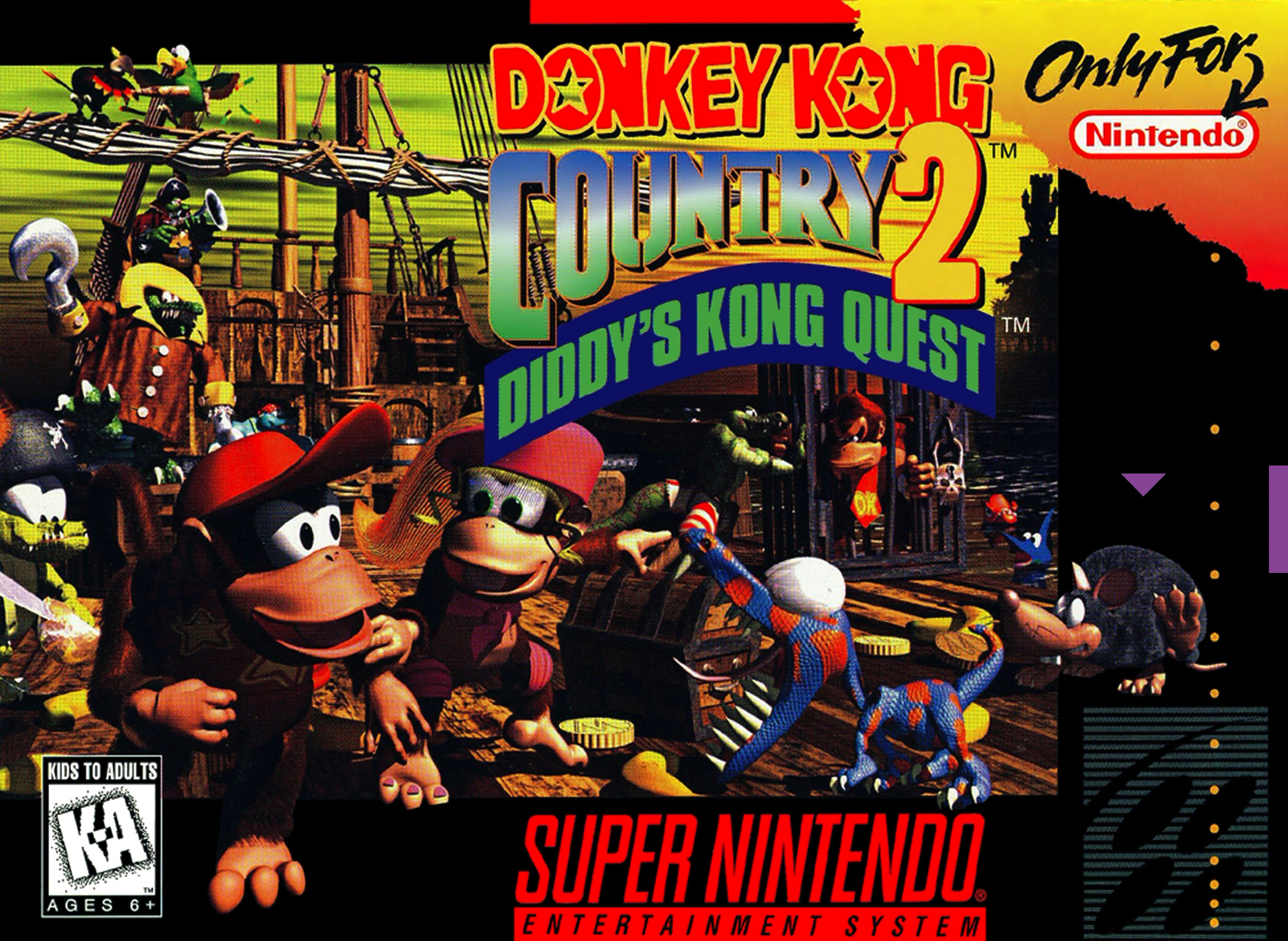 Donkey Kong Country 2: Diddy's Kong Quest For Super Nintendo SNES