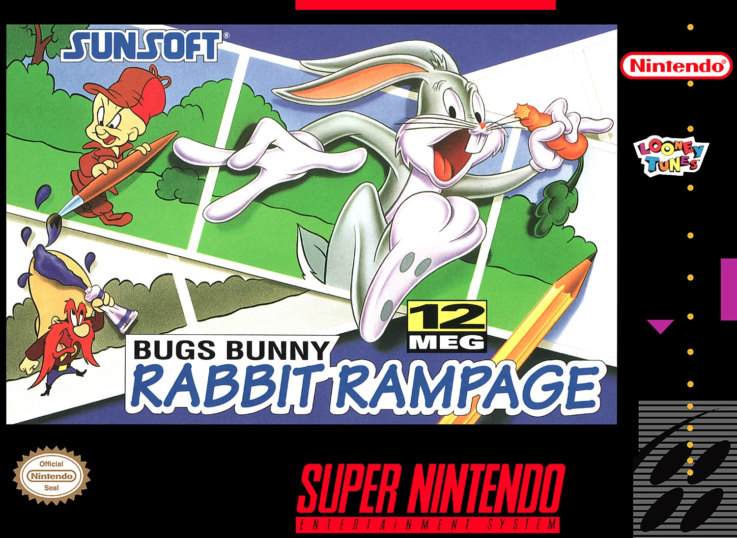 Bugs Bunny: Rabbit Rampage For Super Nintendo SNES