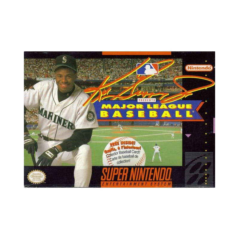 Ken Griffey Jr Presents Major League Baseball For Super Nintendo SNES
