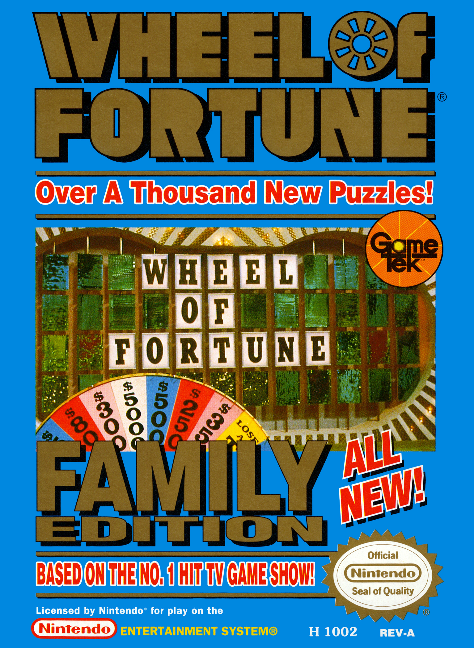 Wheel Of Fortune: Family Edition For Nintendo NES Vintage Trivia