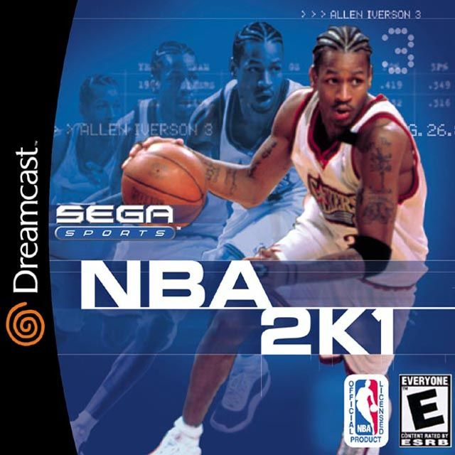 NBA 2K1 Sega Dreamcast For Sega Dreamcast Basketball