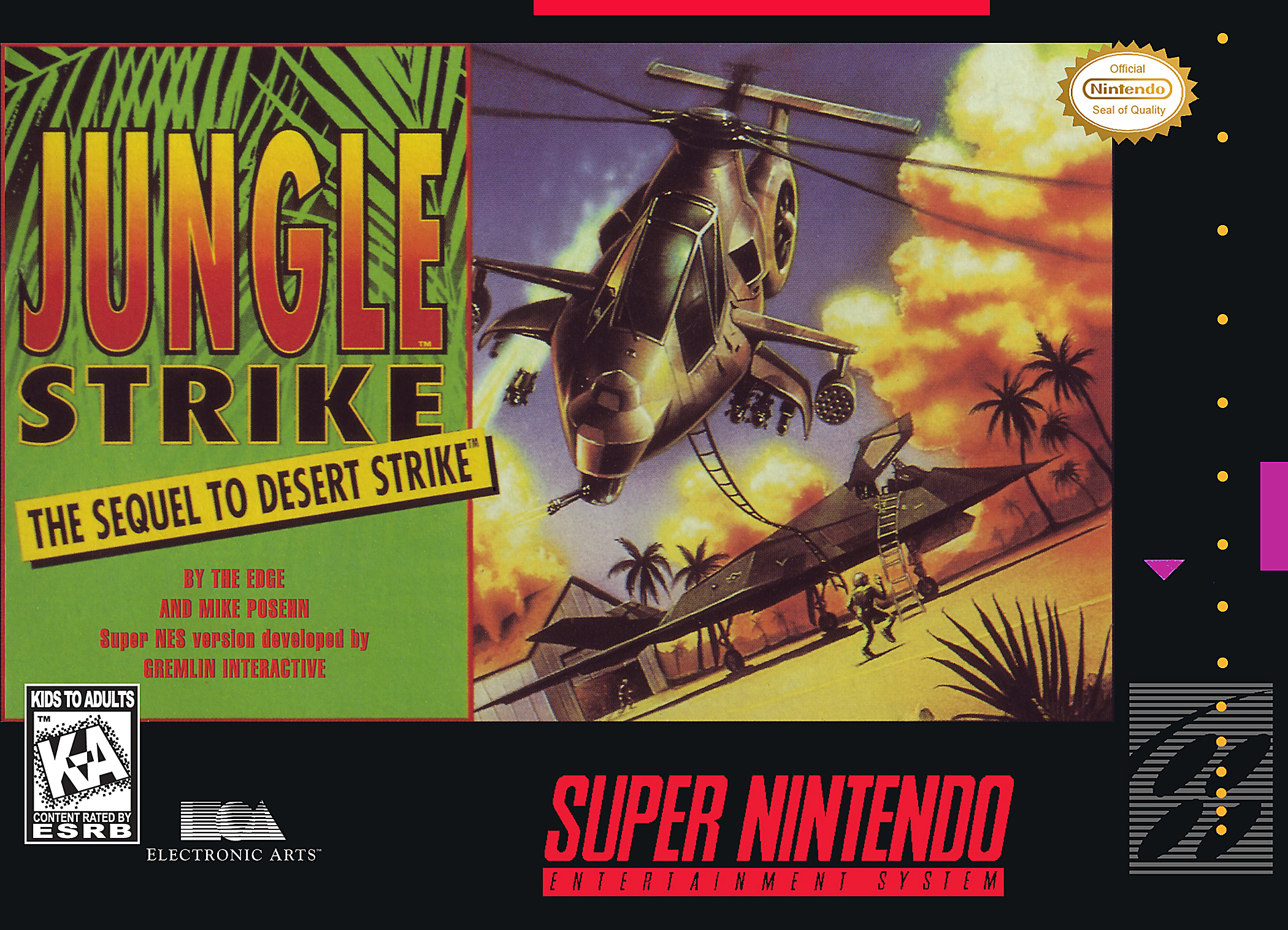 Jungle Strike Nintendo Super NES For Super Nintendo SNES