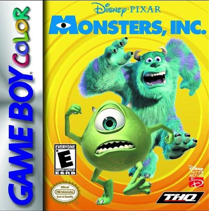 Disney/pixar Monsters Inc On Gameboy Color
