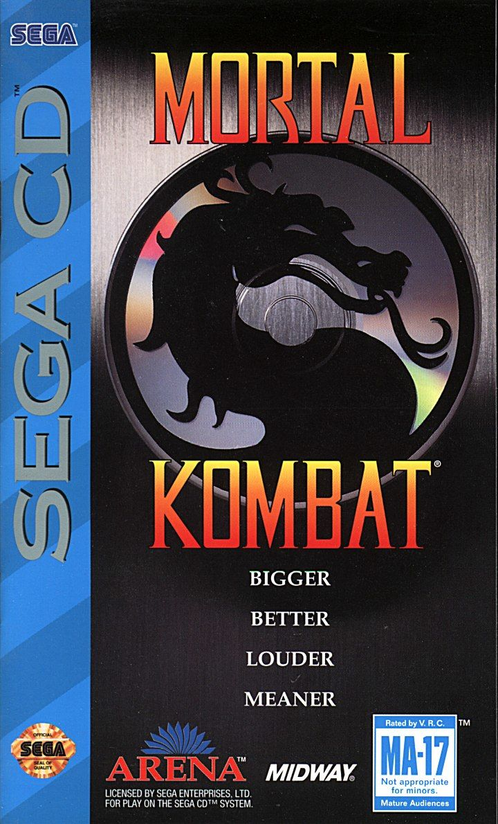 Mortal Kombat For Sega CD Fighting With Manual and Case