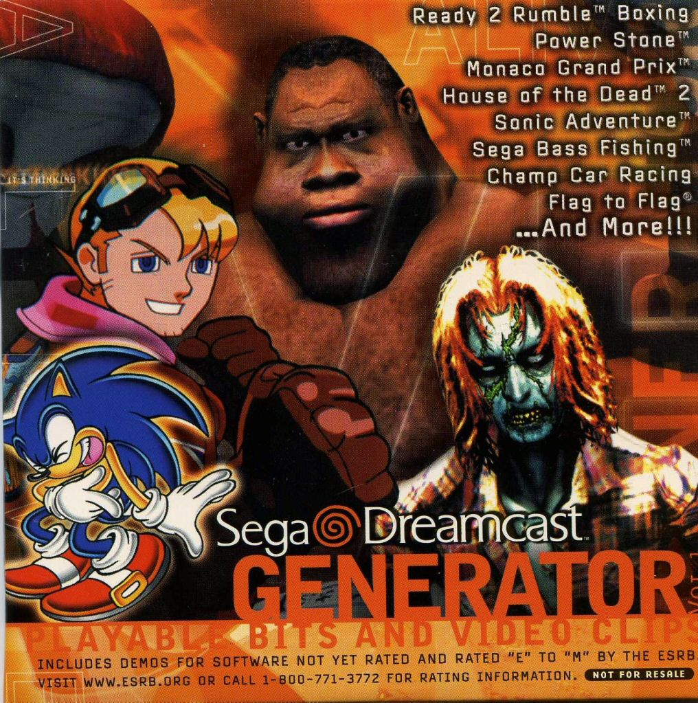 Generator VOL.1 For Sega Dreamcast