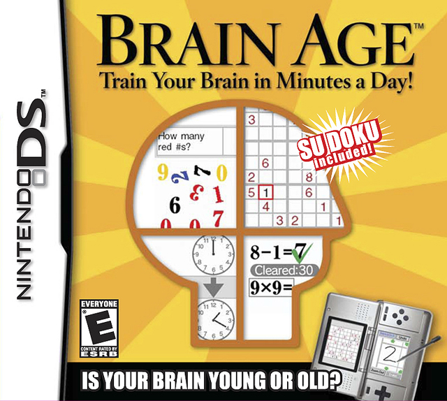 Brain Age: Train Your Brain In Minutes A Day! Trivia For Nintendo DS
