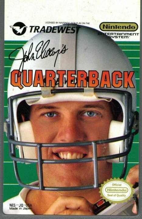 John Elway's Quarterback For Nintendo NES Vintage Football With Manual and Case