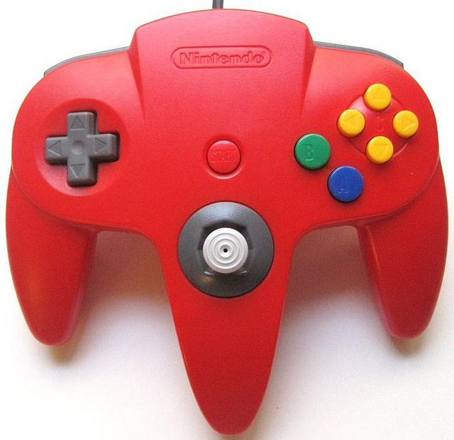Image 0 of Nintendo 64 Controller Red For N64 Gamepad