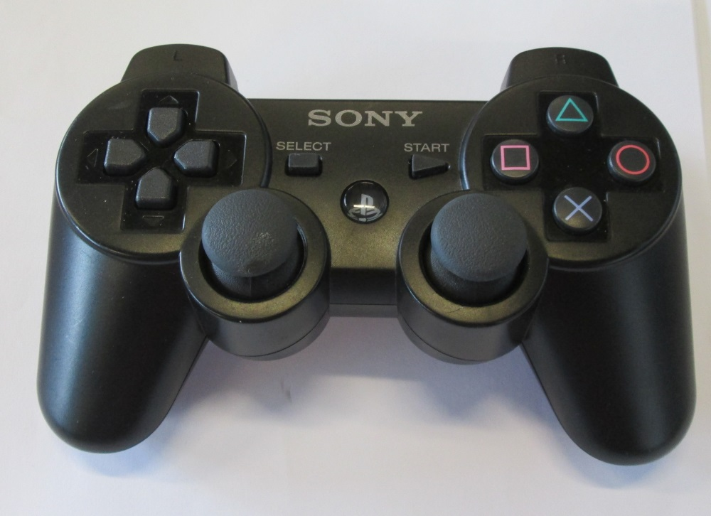 sony oem dualshock 3 wireless controller black for. Black Bedroom Furniture Sets. Home Design Ideas