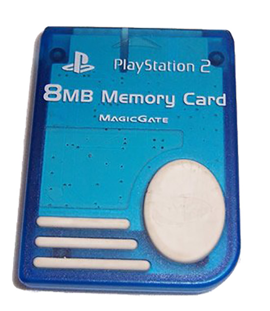 8MB Memory Card Blue For PlayStation 2 PS2 Expansion