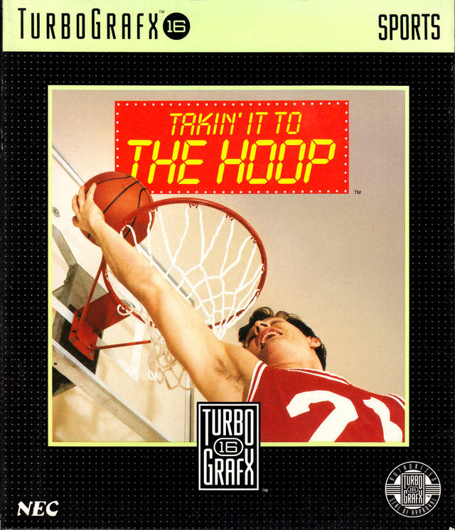 Takin' It To The Hoop For Turbo Grafx 16 Vintage Basketball