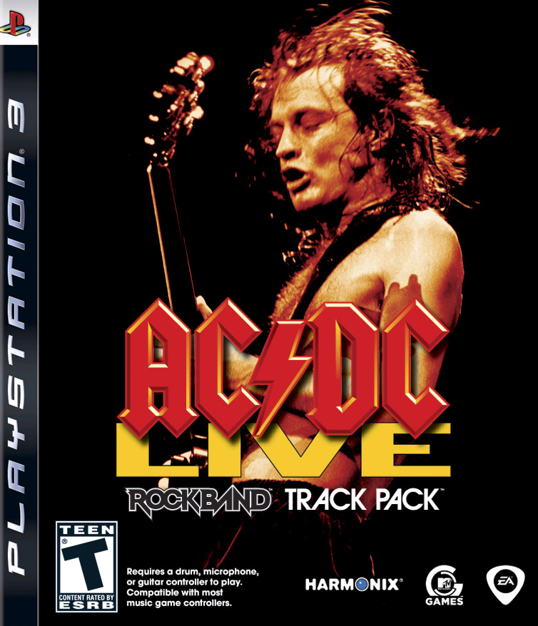 AC/DC Live: Rock Band Track Pack For PlayStation 3 PS3 Music