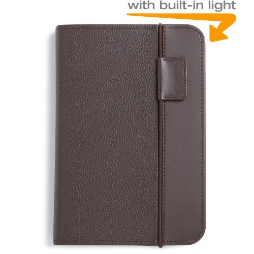 Kindle Lighted Leather Cover Chocolate Brown Fits Kindle