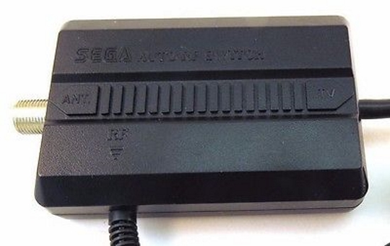 Auto RF Adapter Switch For Sega Genesis Vintage Black 1603A