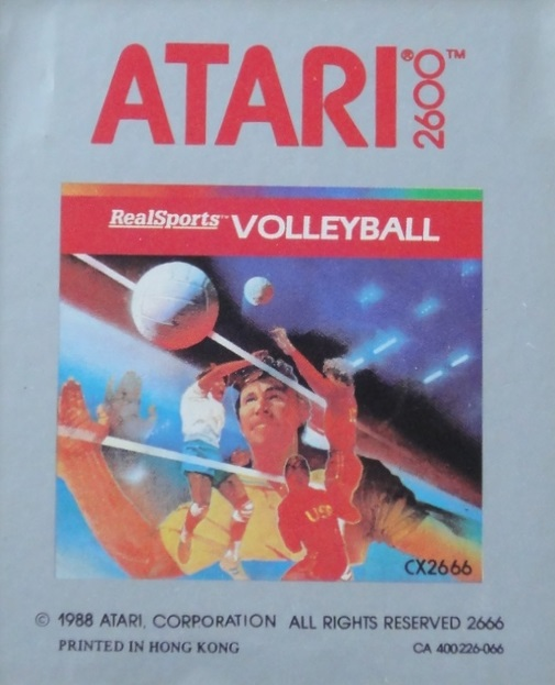 2600 Game Cartridge Real Sports Volleyball For Atari Vintage