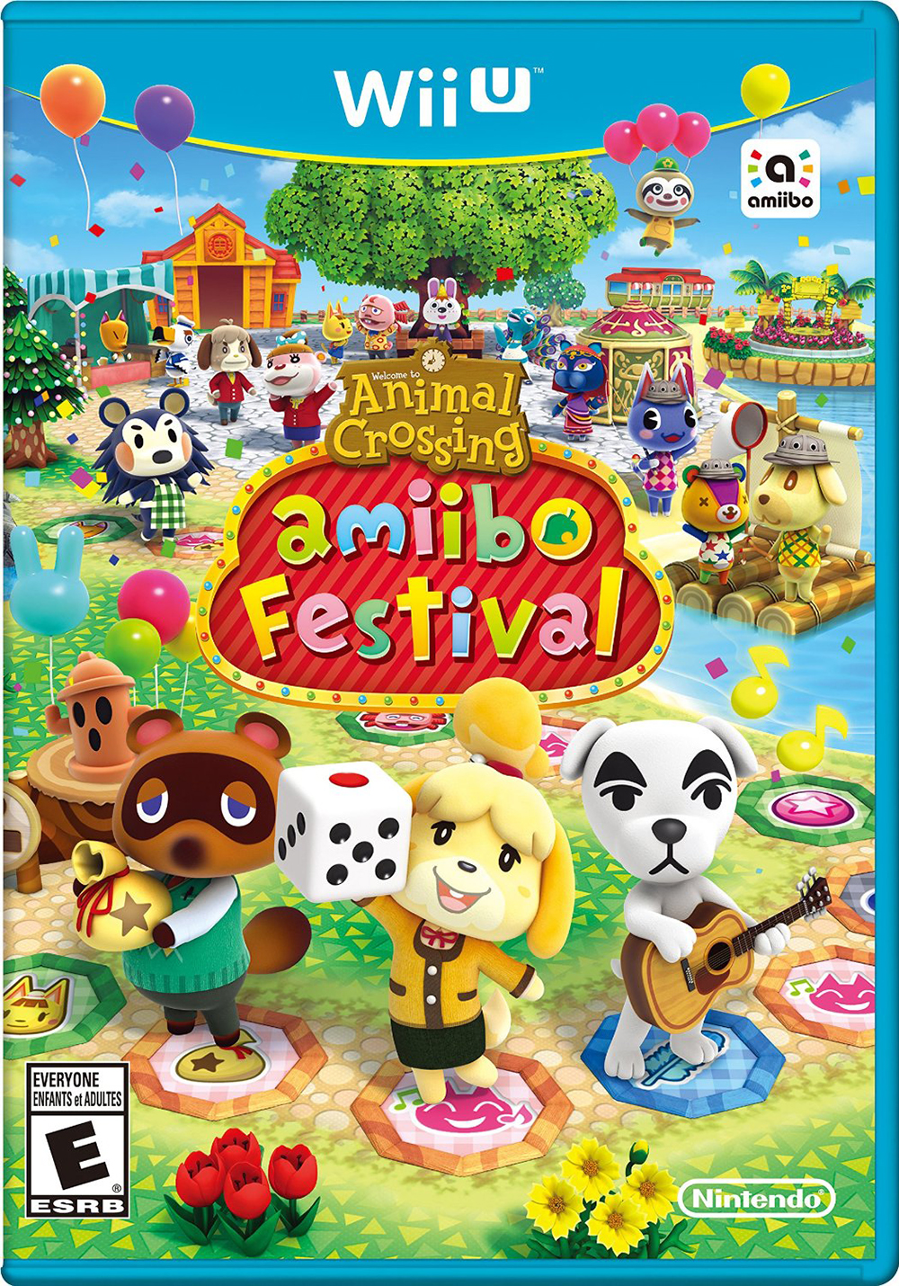 Animal Crossing: Amiibo Festival For Wii U Board Games With Manual And Case